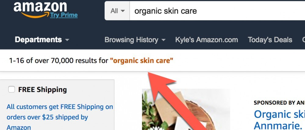 organic skin care niche, affiliate marketing